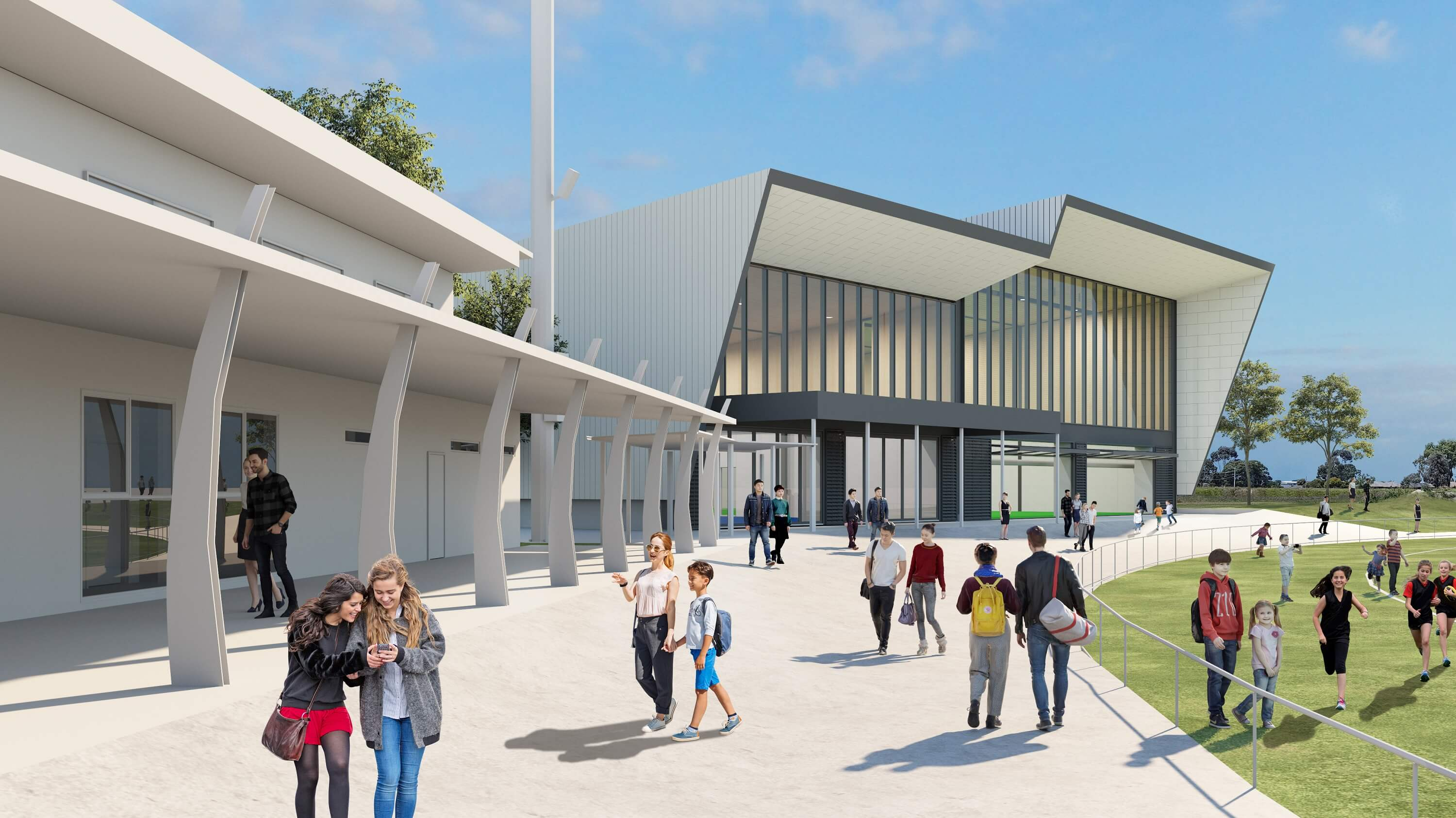Artist's impression of the expansion