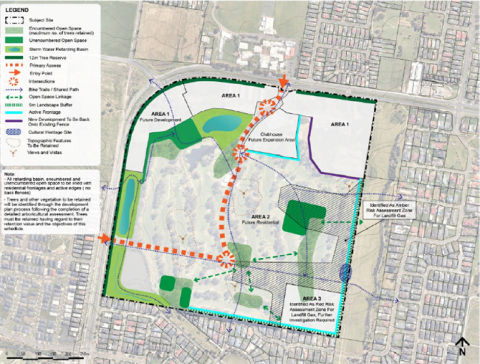 map of Amstel Golf Course Development Plan