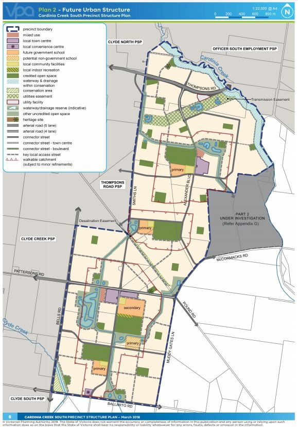 cardinia creek structure plan