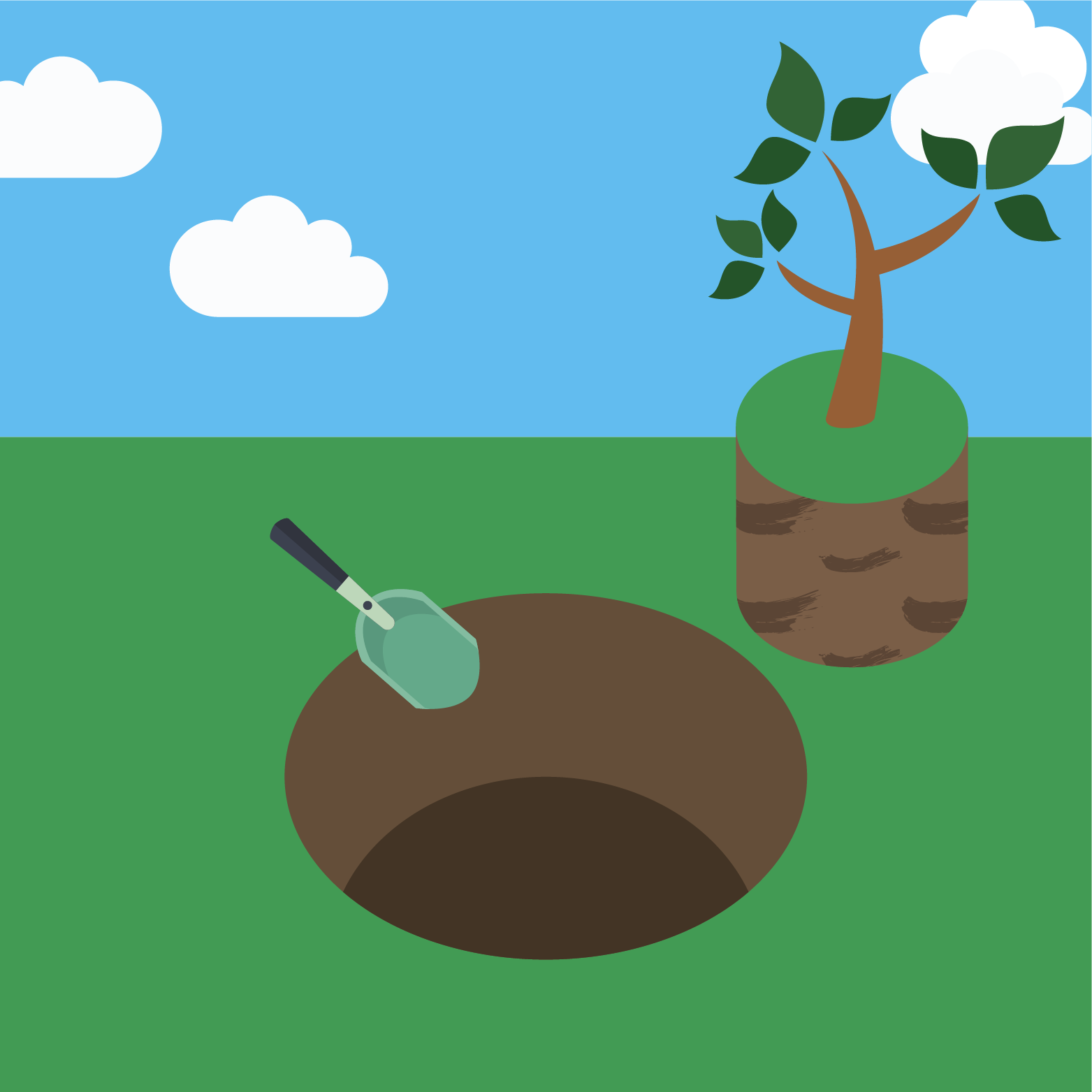 icon for planting a tree step 1