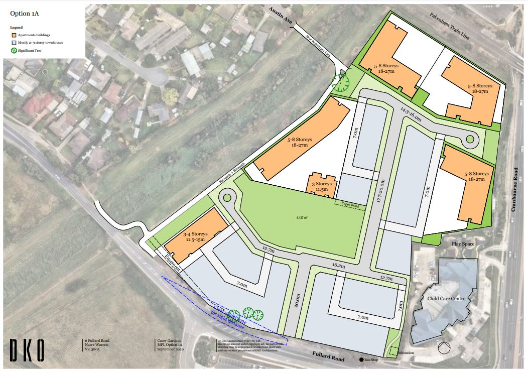 Casey Gardens Development Plan Map
