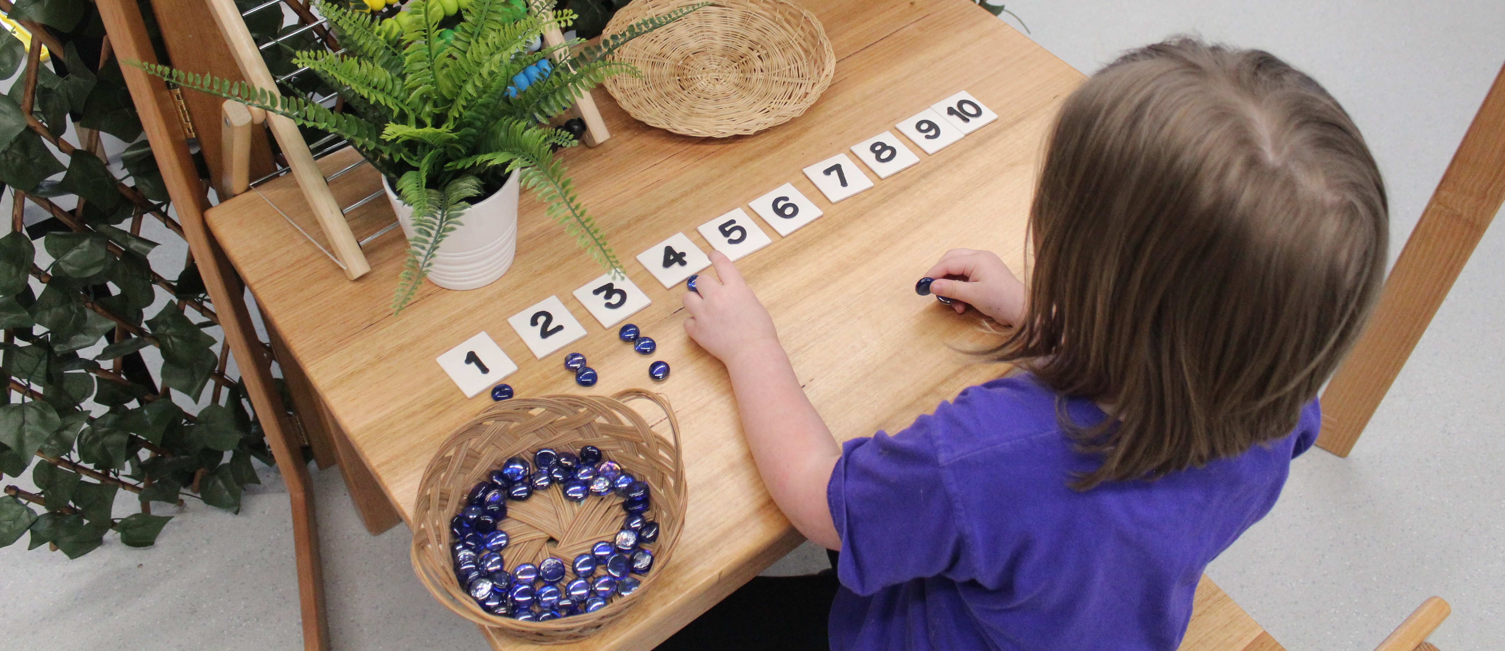 child counting at a casey kindergarten